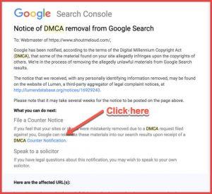 گزارش dmca گوگل و حذف محتوای سایت