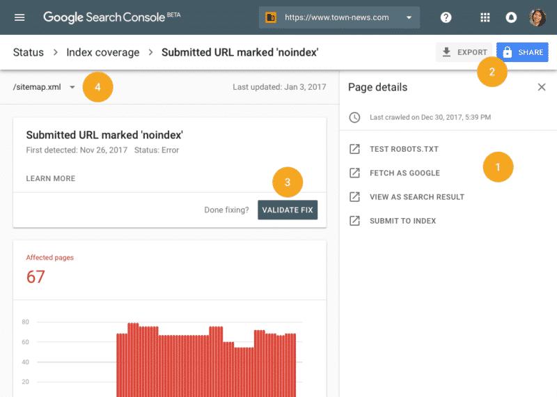 ایندکس لینک در گوگل کنسول